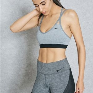 Nike Grey Indy Strappy Sports Bra